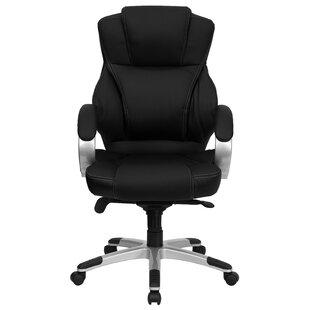 Latitude Run Winnols High-Back Leather Executive Chair