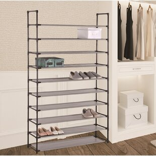 Inexpensive 50 Pair Stackable Shoe Rack By Rebrilliant