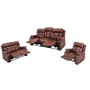 Lisson 3 Piece Reclining Living Room Set