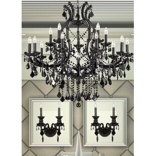 House of Hampton Keeler 3 Piece Candle Style Chandelier and Wall Sconce Set