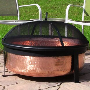 Millwood Pines Tyrone Hammered Copper Wood Fire Pit