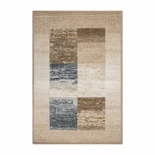 Reviews Childers Printed Non-Slip Cream Area Rug By Ebern Designs