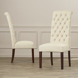 Looking for Estbury Tall Tufted Upholstered Dining Chair (Set of 2) by Charlton Home Reviews (2019) & Buyer's Guide