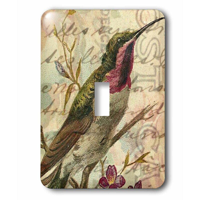 3drose Switch Vintage Hummingbird 2 Digital Art By Angelandspot 1 Gang Toggle Light Switch Wall Plate Wayfair
