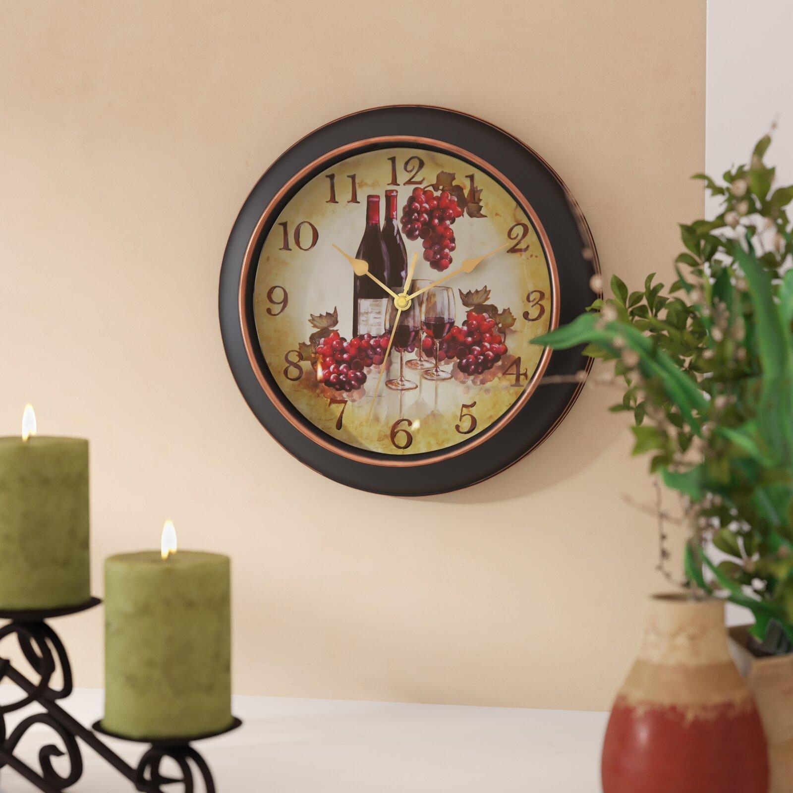 Wine Wall Clock - Kitchen Wall Art - Howa Wall Clock
