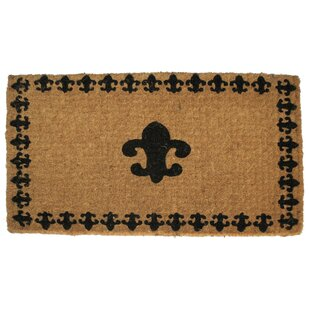 Woven Fleur Delis with Border Door mat by Imports Decor
