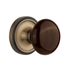 Brown Porcelain Passage Door Knob with Classic Rosette by Nostalgic ...