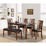 Hudson Square 6 Piece Solid Wood Dining Set by Alcott Hill®