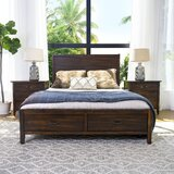 Sartell Distressed Platform Solid Wood 3 Piece Bedroom Set by Breakwater Bay