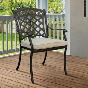 Goodwin Patio Dining Chair with Cushion (Set of 4)