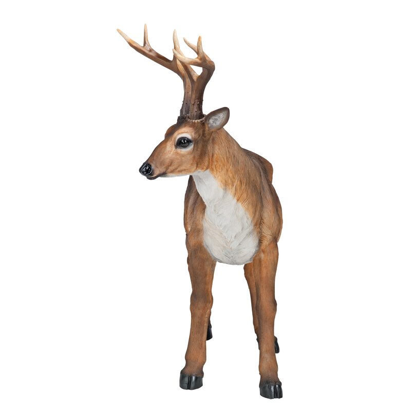 "Collectible Hunting Deer On Antlers Figurine Figure Decor Outdoor Gift 4.5/"" New"