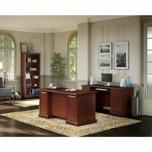 Bennington 3 Piece Desk Office Suite by Kathy Ireland Office Bush Cool