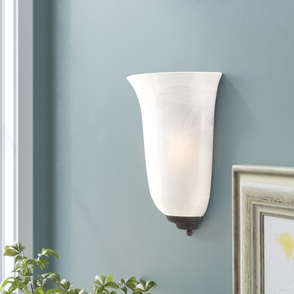 Marble Glass Shade Sconce Wayfair