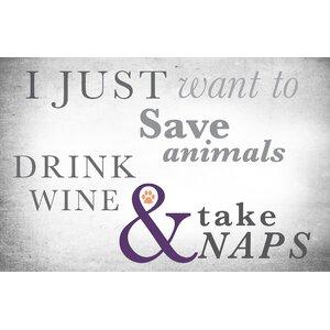 Surfaces Animals, Wine and Naps Doormat