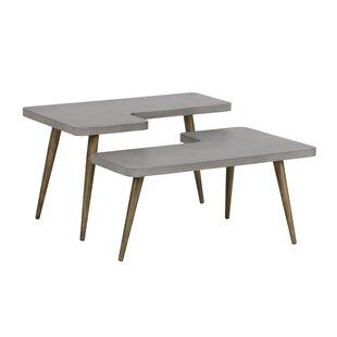 Solterra Loupe 2 Piece Coffee Table Set Sunpan Modern Bargain