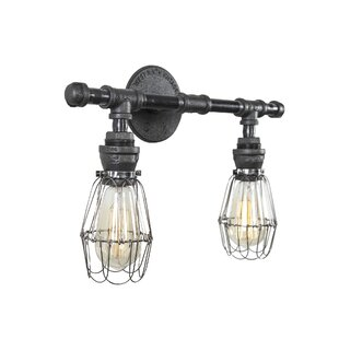 West Ninth Vintage Steel 2-Light Vanity Light