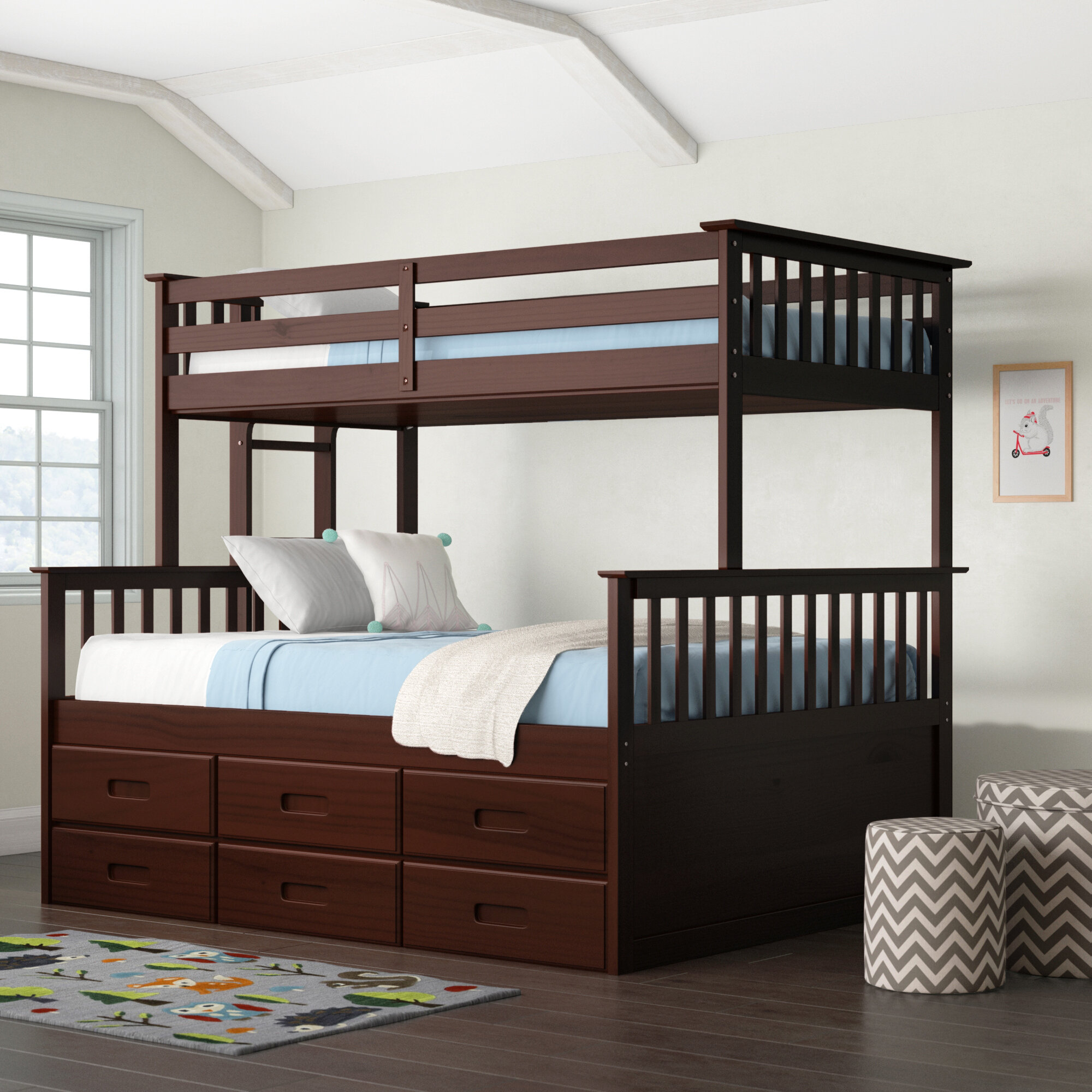 Viv Rae Sandra Bunk Bed With Trundle