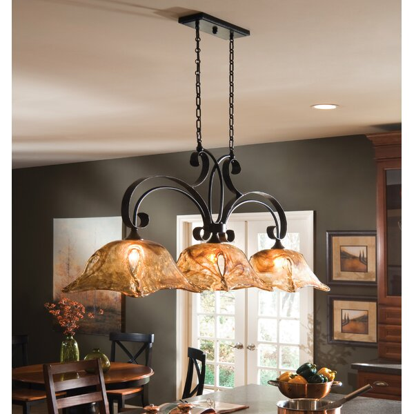 Astoria Grand Constantine 3 Light Kitchen Island Linear Pendant Reviews Wayfair