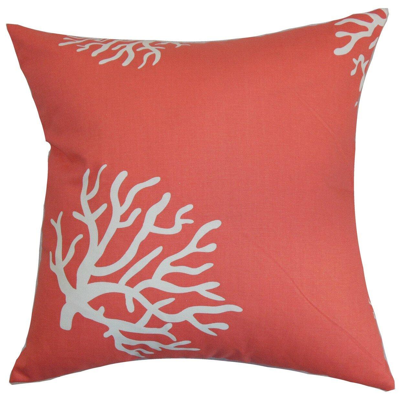Highland Dunes Bernal Coral Cotton Throw Pillow Cover Reviews Wayfair
