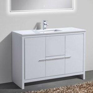 bathroom vanity with single sink. Bosley 48  Single Sink Modern Bathroom Vanity Vanities You ll Love Wayfair