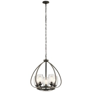 17 Stories Covey 5-Light Shaded Chandelier