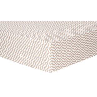Price comparison Chevron Deluxe Flannel Fitted Crib Sheet ByTrend Lab