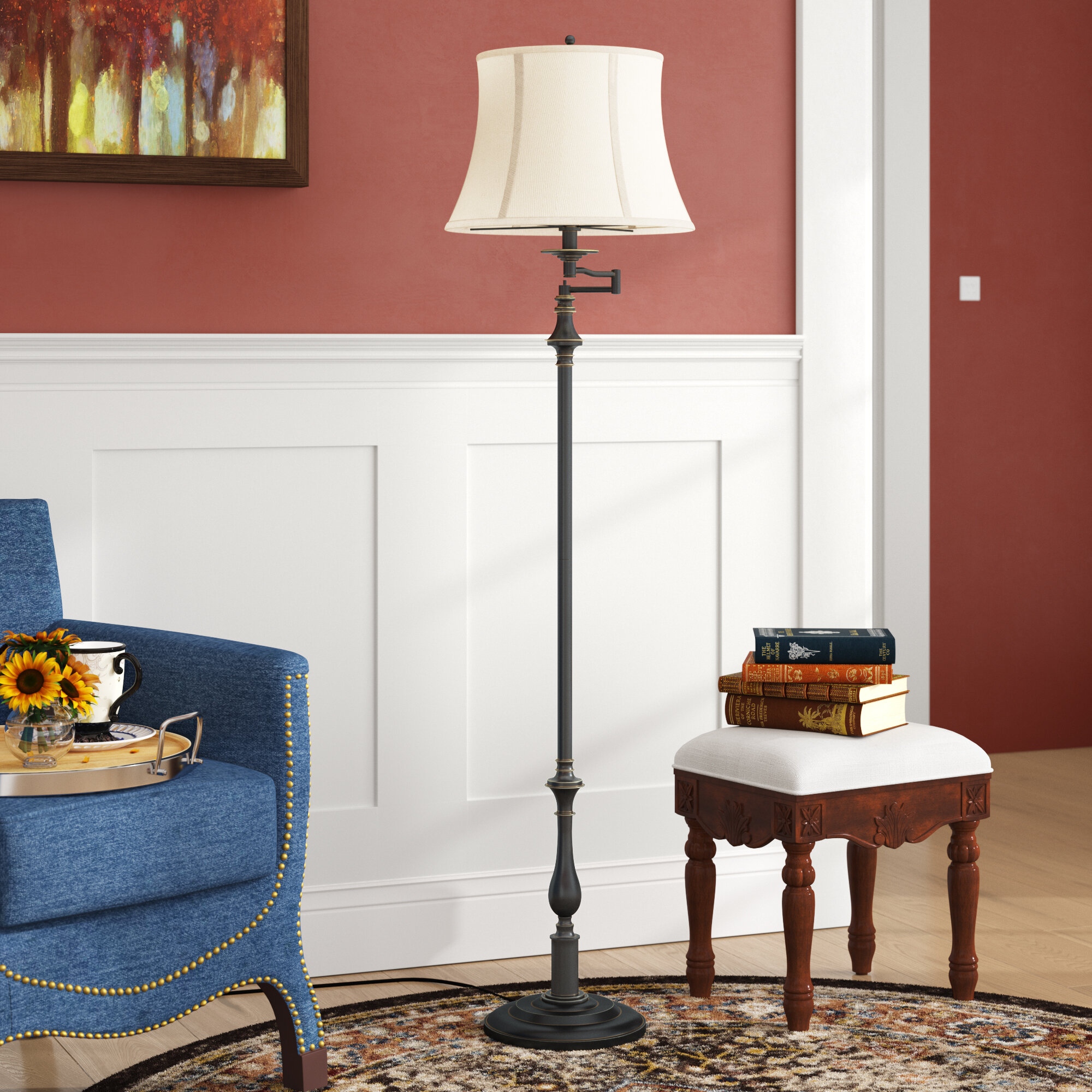 Andover Mills Menard 60 5 Swing Arm Floor Lamp Reviews Wayfair