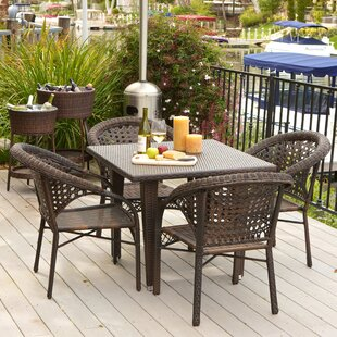Alsup 5 Piece Outdoor Dining Set by Brayd..