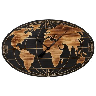 World map clock wayfair restrepo world map wall clock gumiabroncs Image collections