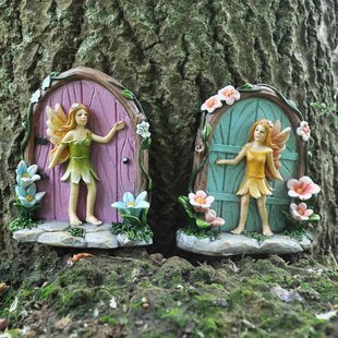 2 Piece Gedimias Floral Fairy Doors Set Image