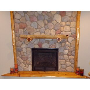 Fireplace Shelf Mantel In , With Support Logs By North Shore Log Company