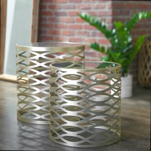 Metal Round 2 Piece Nesting Tables