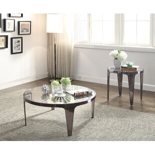 Everly Quinn Gascon 2 Piece Coffee Table Set