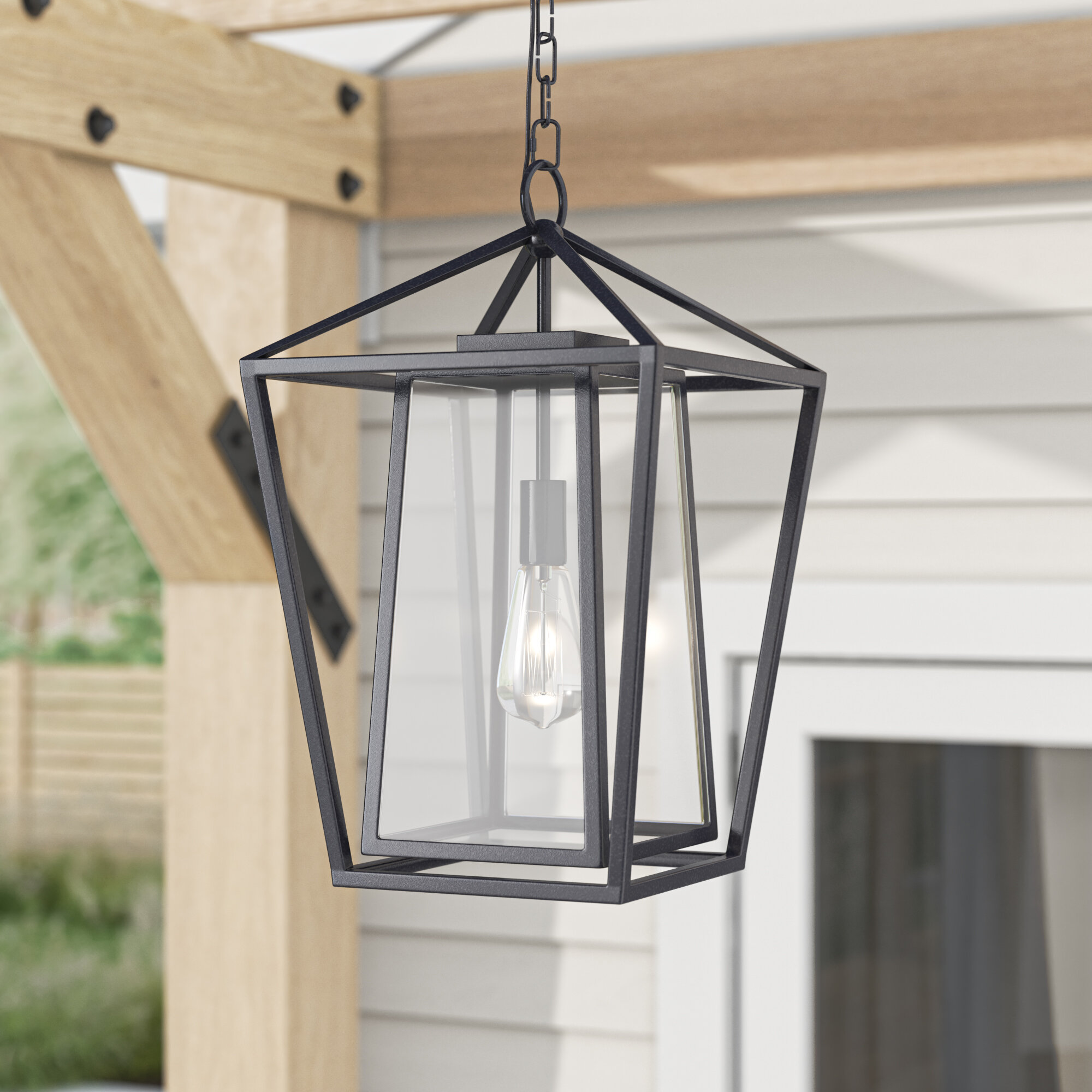 Malia Black 21  Bulb 221'' H Outdoor Hanging Lantern