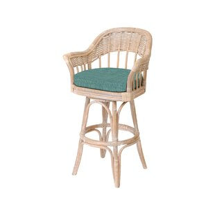 Moonsu Traditional 30 Swivel Bar Stool Bayou Breeze