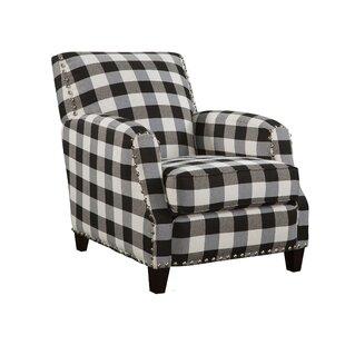 Clarkesville Black And White Plaid Armchair