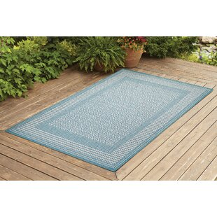 Satter Turquoise Indoor/Outdoor Area Rug