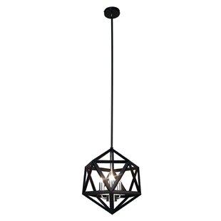 Radionic Hi Tech Archello 3-Light Geometric Chandelier