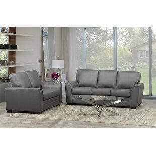 Nadin 2 Piece Leather Living Room Set By Orren Ellis
