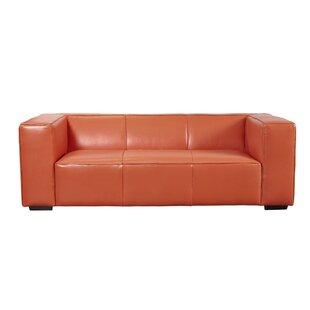 Latitude Run Denis Leather Sofa
