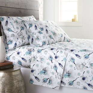 Champagne Extra-Deep Pocket 300 Thread Count Floral 100% Cotton Sateen Sheet Set