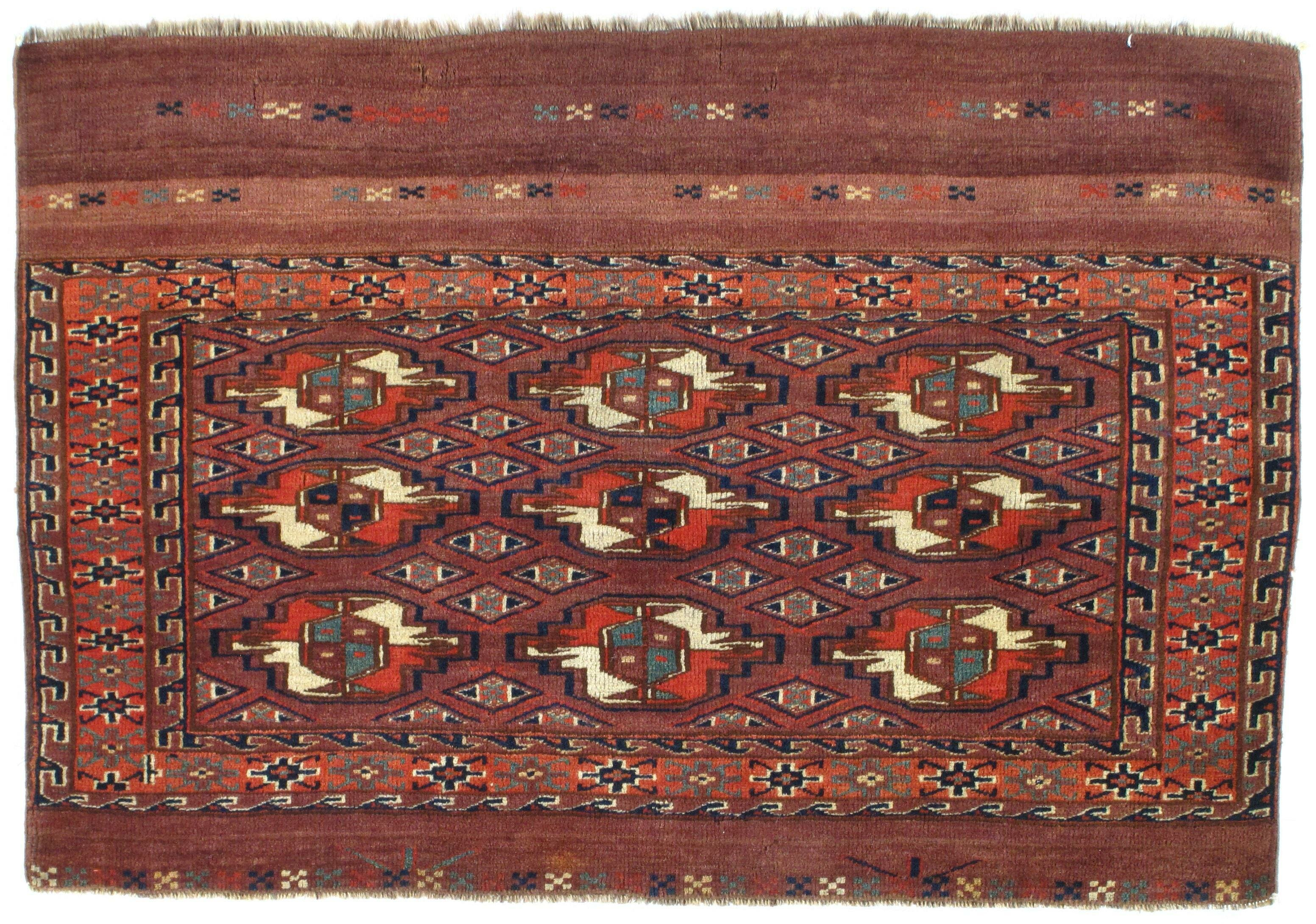 Pasargad Ny Russian Tekken Hand Knotted Wool Rust Area Rug Wayfair