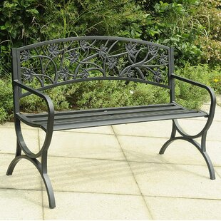 Noe Steel Garden Bench by Charlton Home