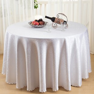 Caster Figured Dacron Round Tablecloth
