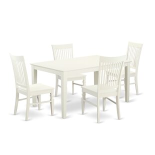 Smyrna 5 Piece Solid Wood Dining Set by Charlton Home Best #1