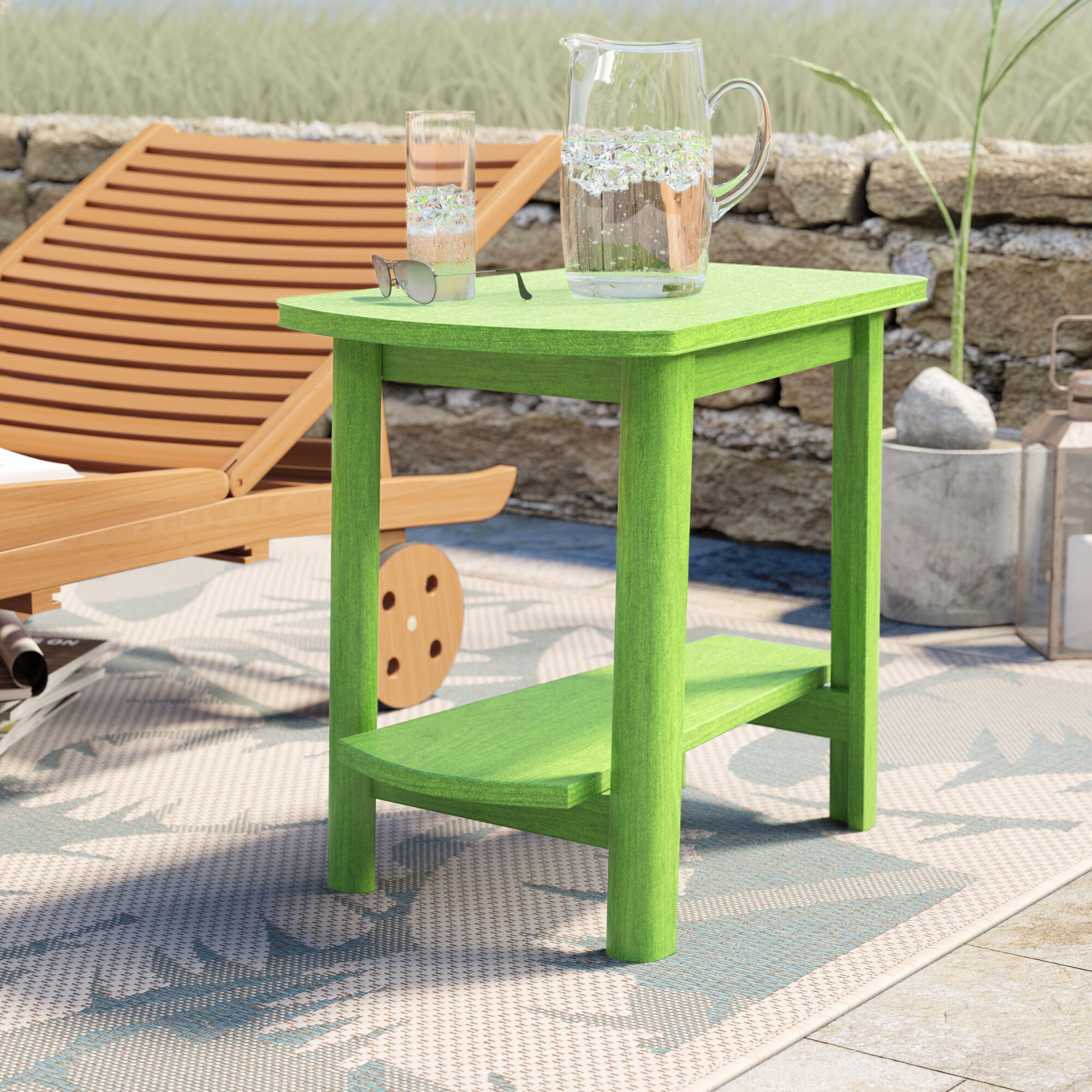 Picture of: Beachcrest Home Alanna Plastic Resin Side Table Reviews Wayfair