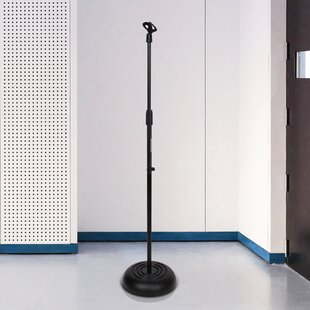 Microphone Stand  Universal Mic Mount with Heavy Compact Base Height Adjustable 28  5 ft by Pyle