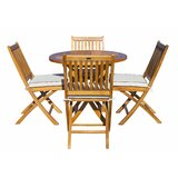 Vickers 5 Piece Teak Dining Set with Sunbrella Cushions