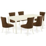 Loïck 7 - Piece Extendable Solid Wood Dining Set by Winston Porter