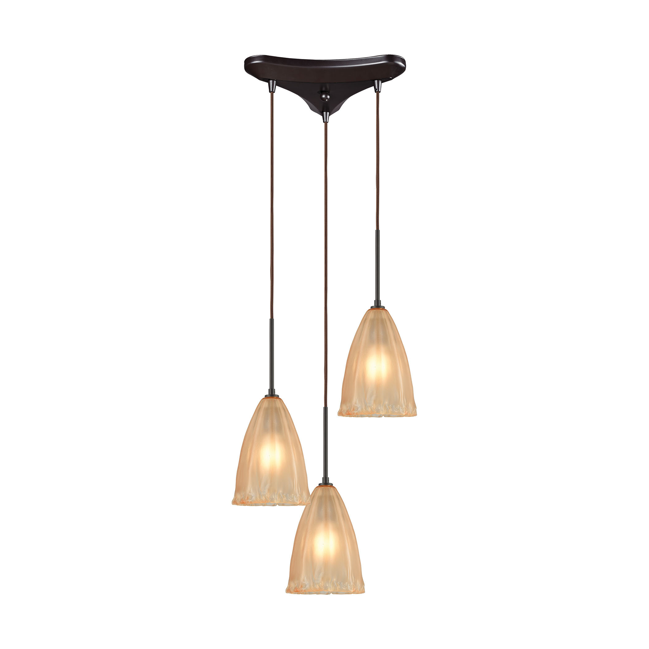 Bay Isle Home Mejorado 3 Light Cluster Bell Pendant Wayfair